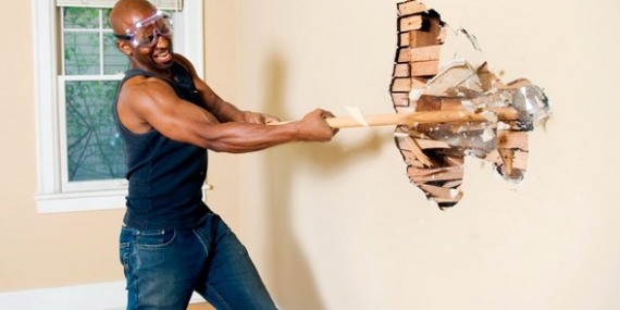 Man with sledgehammer